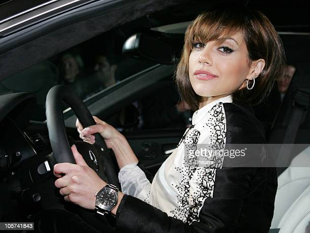 Brittany Murphy during IWC and MercedesAMG Celebrate the Launch of The Ingenieur at Santa Monica Airport Hangar 8 in Santa Monica California United...