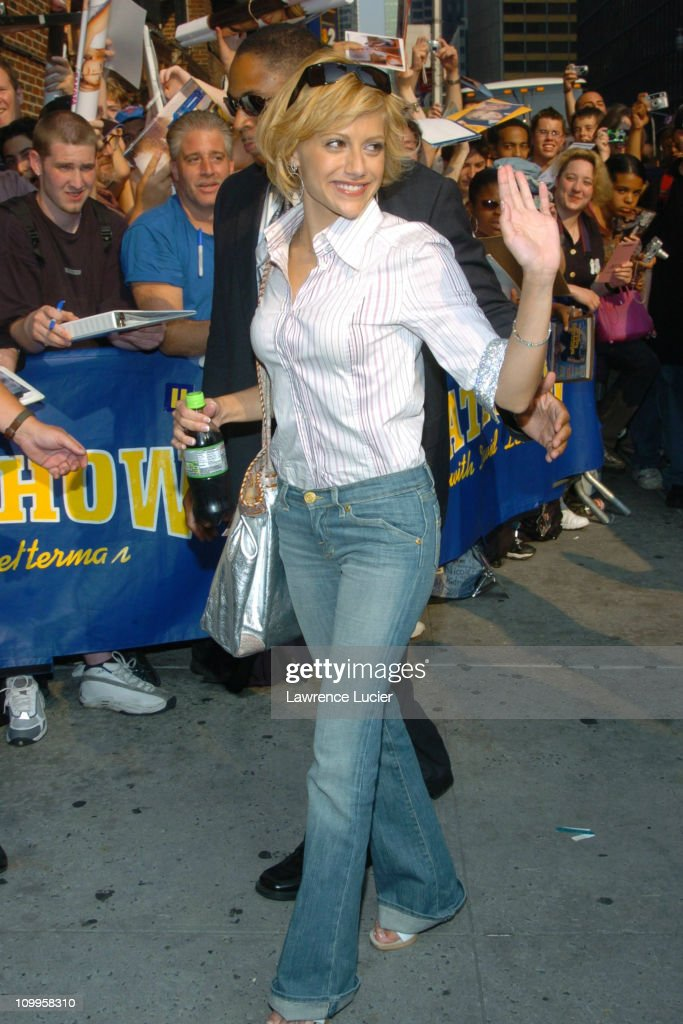 Brittany Murphy during Matt Damon and Brittany Murphy Arrive at The Late Show with David Letterman at Ed Sullivan Theater in New York City New York...