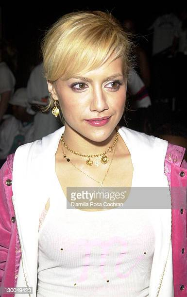 Brittany Murphy during MercedesBenz Fashion Week Spring Collections 2003 Baby Phat Front Row at Bryant Park in New York City New York United States
