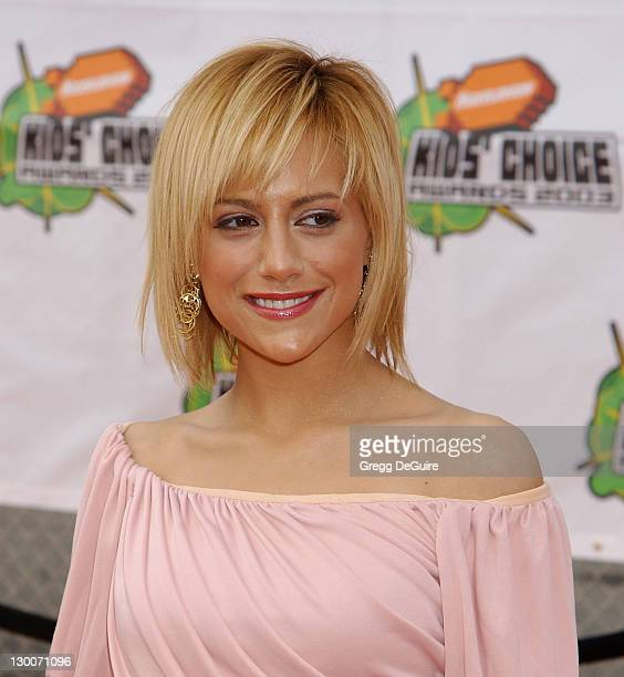 Brittany Murphy during Nickelodeon's 16th Annual Kids' Choice Awards 2003 Arrivals at Barker Hanger in Santa Monica California United States
