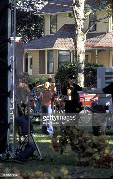 Brittany Murphy during On the Set of 'Riding in Cars With Boys' September 20 2000 at Park in Bloomfield in Bloomfield New Jersey United States