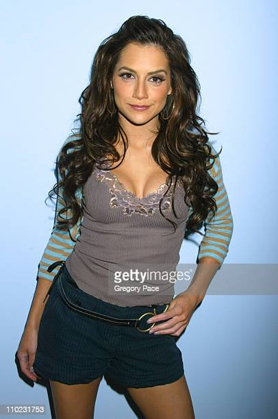 Brittany Murphy during Pamela Anderson and Brittany Murphy Visit MTV's 'TRL School'd Week' at MTV Studios Times Square in New York City New York...