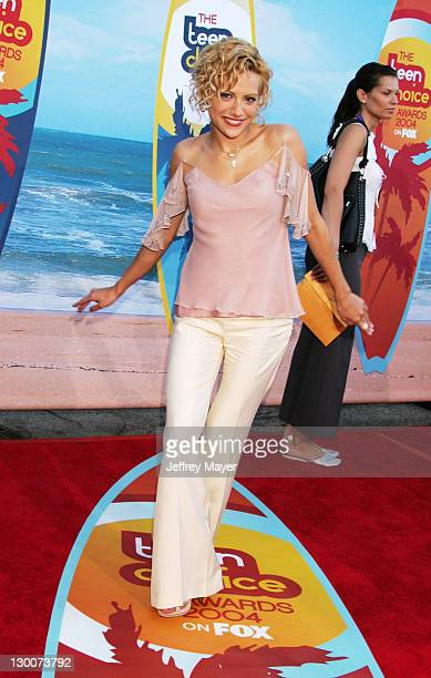 Brittany Murphy during The 2004 Teen Choice Awards Arrivals at Universal Ampitheatre in Universal City California United States