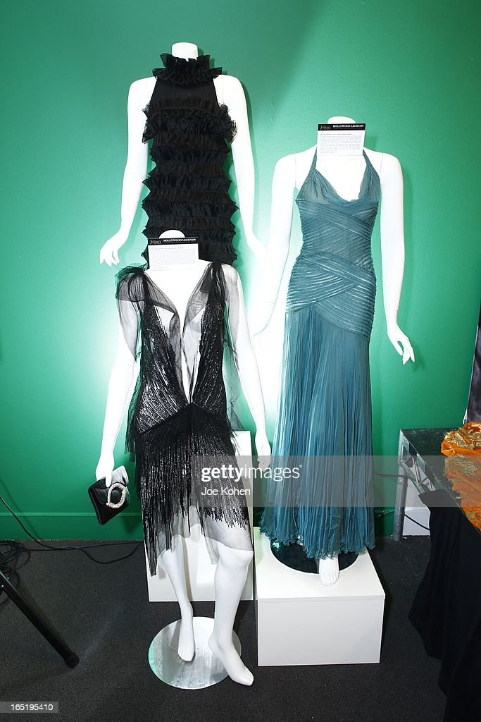 Brittany Murphy Italian designer dresses seen on display at Julien's Auctions Gallery on April 1, 2013 in Beverly Hills, California.