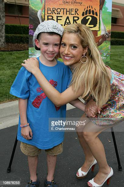 Brittany Murphy with nephew William Kelley during DisneyToon Studios Screening of the Soon to be Released 'Brother Bear 2' at The Walt Disney Studios...