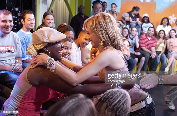 Brittany Murphy with TRL Audience during Brittany Murphy Visits MTV's 'TRL' to Promote Her New Film 'Uptown Girls' August 7 2003 at MTV Studios Times...