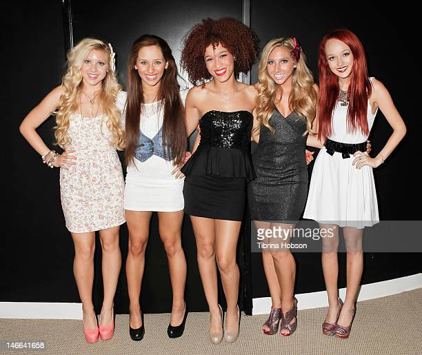 Brittany Oaks Helene Alam Vanessa Hernandez Breanne Oaks and Kimberly Rose attend the Hollywood launch red carpet event and triple threat showcase at...