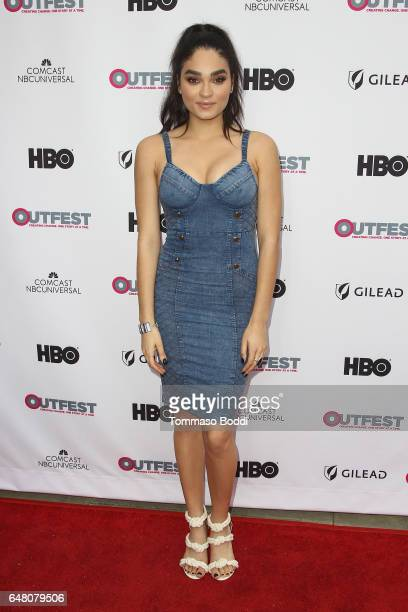 Brittany O'Grady attends the 2017 Outfest Fusion LGBT People of Color Film Festival 'Star' at the Egyptian Theatre on March 4 2017 in Hollywood...