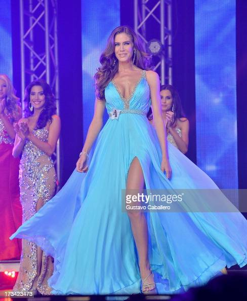 Brittany Oldehoff onstage at the Miss Florida USA Pageant on July 13 2013 in Davie Florida