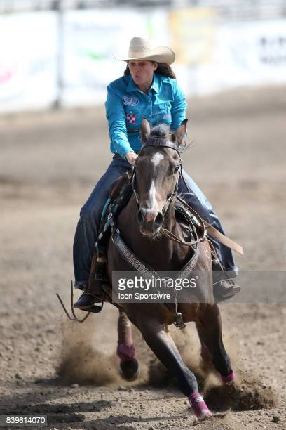 Brittany Pozzi Tonozzi from Victoria TX scored a 1772 in the Slack Barrel Racing competition on August 25 2017 at the Kitsap County Fair and Stampede...