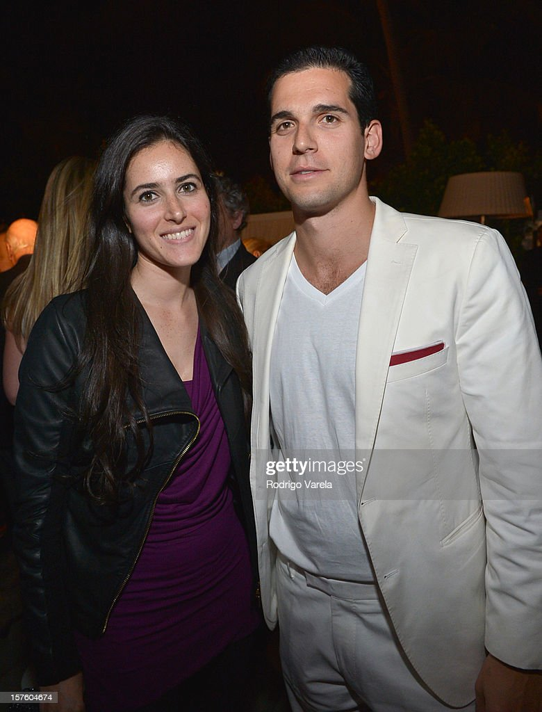 Brittany Sager and Dren Alexander attend the Whitewall Magazine Party At Delano Beach Club at Delano Beach Club on December 4, 2012 in Miami Beach, Florida.