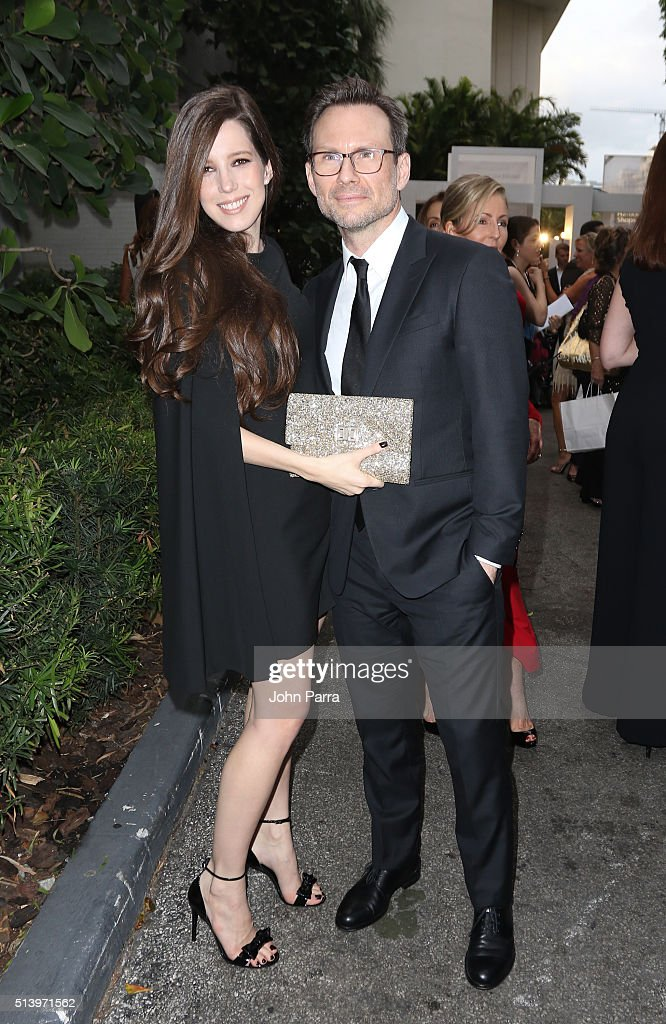 Brittany Slater and Christian Slater attend Destination Fashion 2016 to benefit The Buoniconti Fund to Cure Paralysis, the fundraising arm of The Miami Project to Cure Paralysis at Bal Harbour Shops on March 5, 2016 in Miami, Florida.