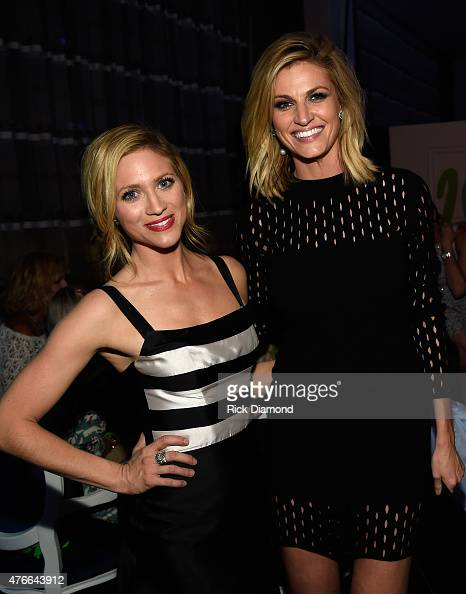 Brittany Snow and Erin Andrews attend the 2015 CMT Music Awards After Party at the Hutton Hotel on June 10 2015 in Nashville Tennessee