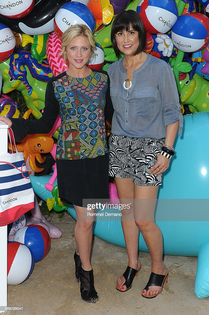 <a gi-track='captionPersonalityLinkClicked' href=/galleries/search?phrase=Brittany+Snow&family=editorial&specificpeople=206624 ng-click='$event.stopPropagation()'>Brittany Snow</a> and Trina Turk attend the 2013 Chandon American Summer Soiree at The Beach at Dream Downtown on May 21, 2013 in New York City.