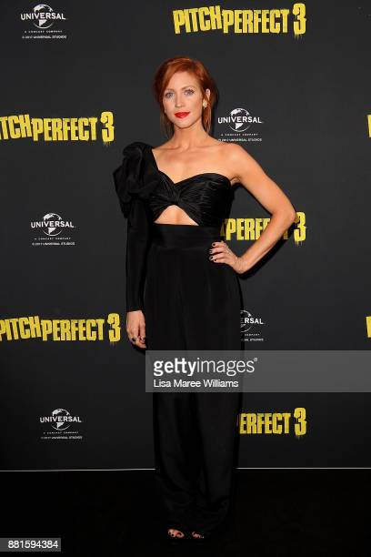 Brittany Snow arrives ahead of the Australian Premiere of Pitch Perfect 3 on November 29 2017 in Sydney Australia