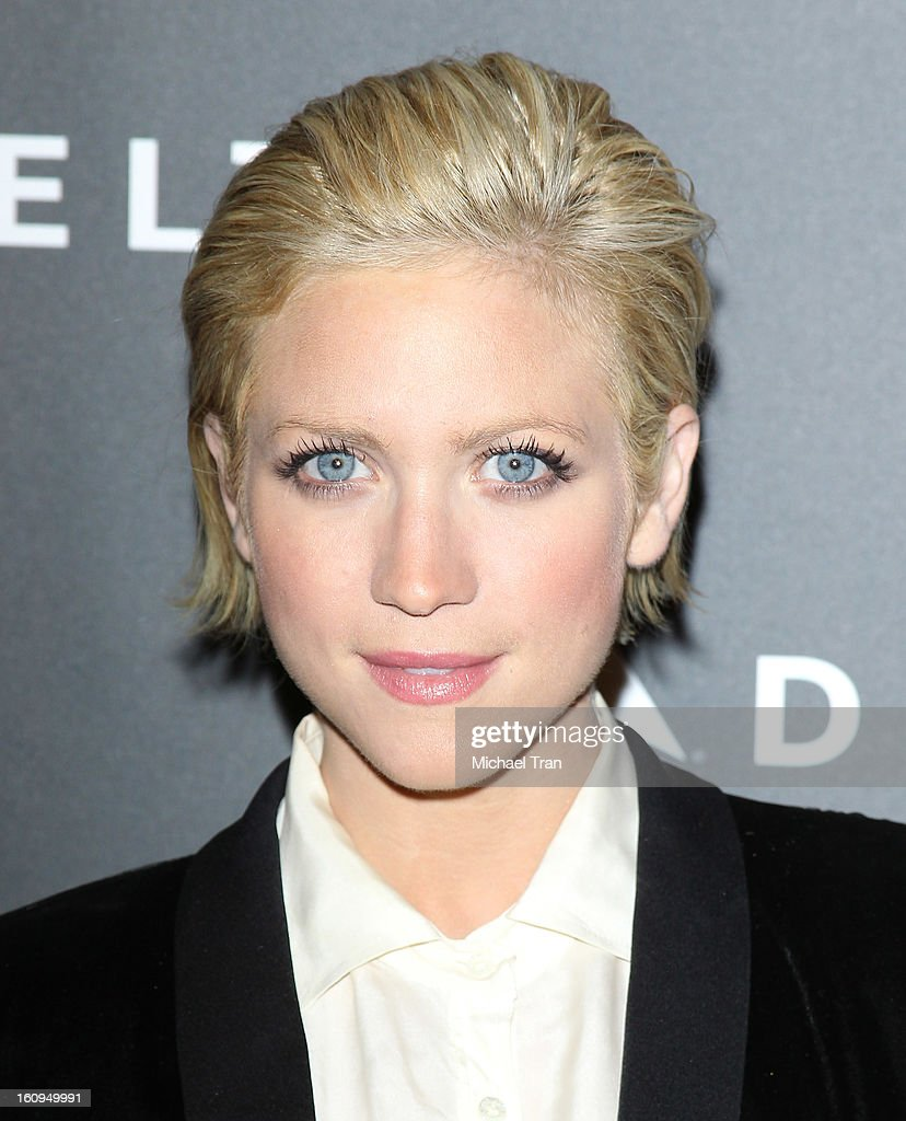 Brittany Snow arrives at Delta Air Lines celebrates the GRAMMY Awards held at The Getty House on February 7, 2013 in Los Angeles, California.