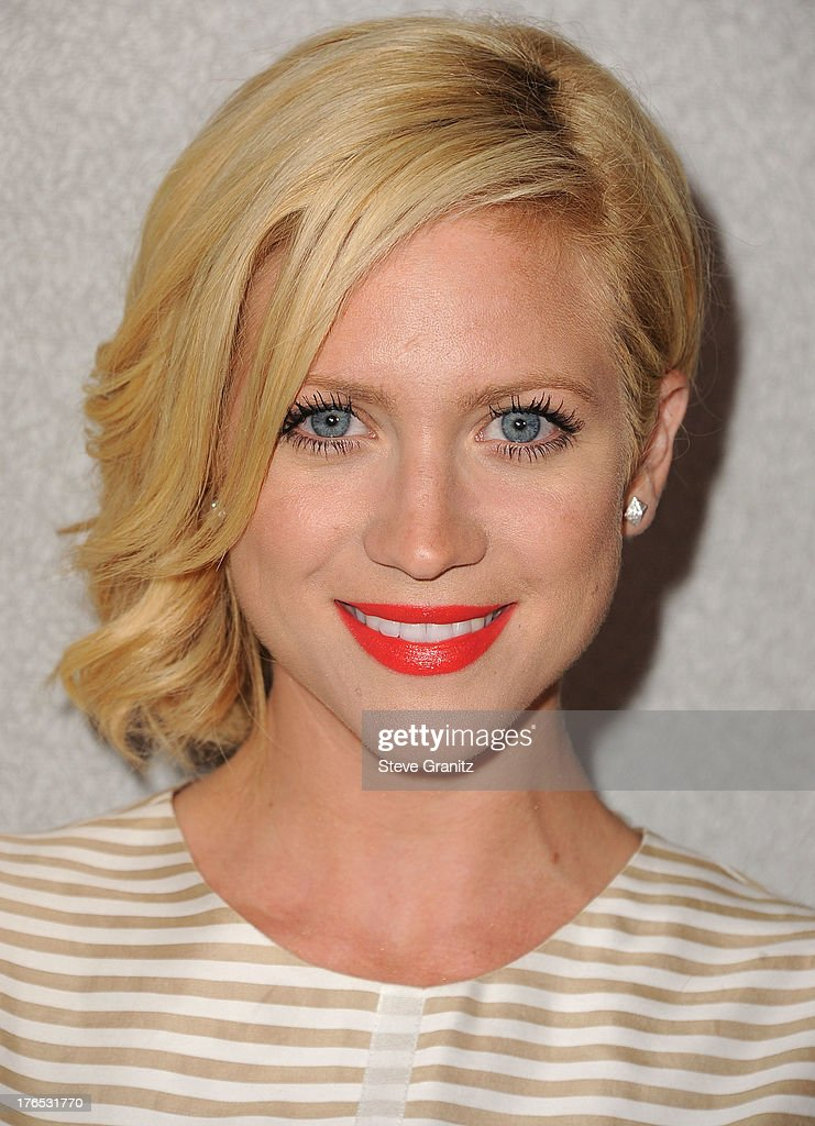 <a gi-track='captionPersonalityLinkClicked' href=/galleries/search?phrase=Brittany+Snow&family=editorial&specificpeople=206624 ng-click='$event.stopPropagation()'>Brittany Snow</a> arrives at the 12th Annual InStyle Summer Soiree at Mondrian Los Angeles on August 14, 2013 in West Hollywood, California.