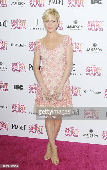 Brittany Snow arrives at the 2013 Film Independent Spirit Awards held on February 23 2013 in Santa Monica California