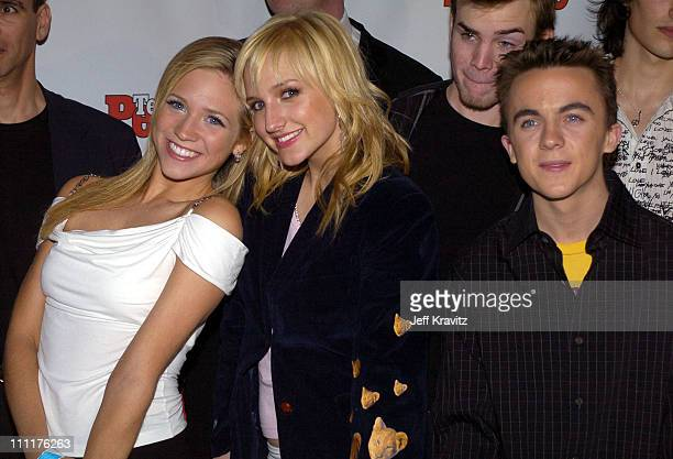 Brittnay Snow Ashlee Simpson and Frankie Muniz during The 11th Annual Rock the Vote Awards VIP Dinner at The Palladium in Hollywood California United...