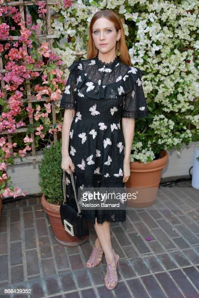 Brittany Snow attends CFDA/Vogue Fashion Fund Show and Tea at Chateau Marmont at Chateau Marmont on October 25 2017 in Los Angeles California