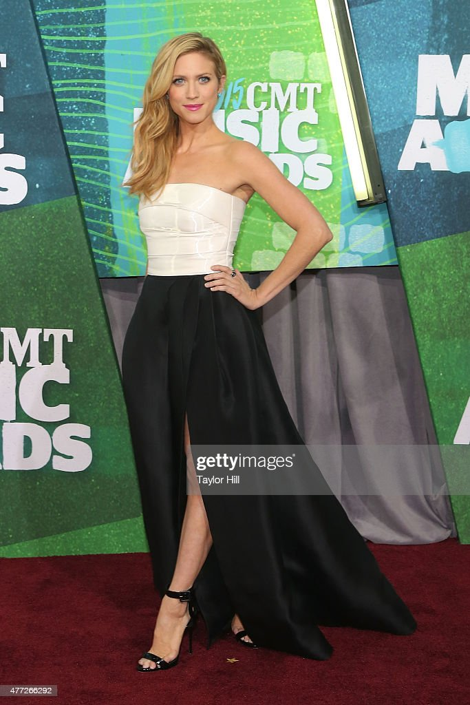 Brittany Snow attends the 2015 CMT Music awards at the Bridgestone Arena on June 10 2015 in Nashville Tennessee