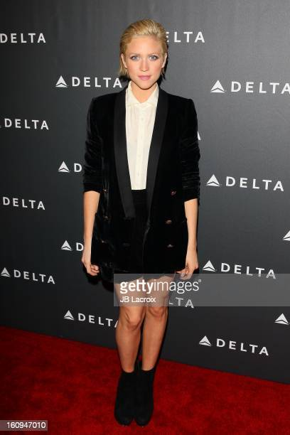 Brittany Snow attends the Delta Airlines GRAMMY Week LA Music Industry held at The Getty House on February 7 2013 in Los Angeles California