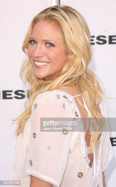 Brittany Snow during Diesel Celebrates the Opening of the Melrose Place Flagship Store Opening Arrivals at Diesel Melrose Place in Hollywood...