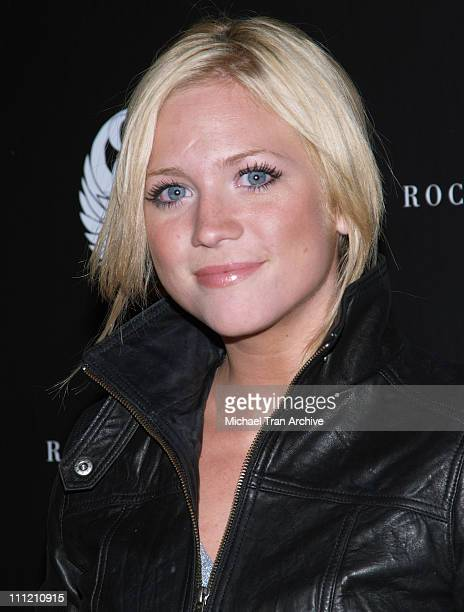Brittany Snow during Rock Republic Spring 2007 Preview Party Red Carpet at Area in West Hollywood California United States