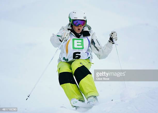Britteny Cox of Australia competes during the Women's Moguls Final of the FIS Freestyle Ski and Snowboard World Championship 2015 on January 18 2015...
