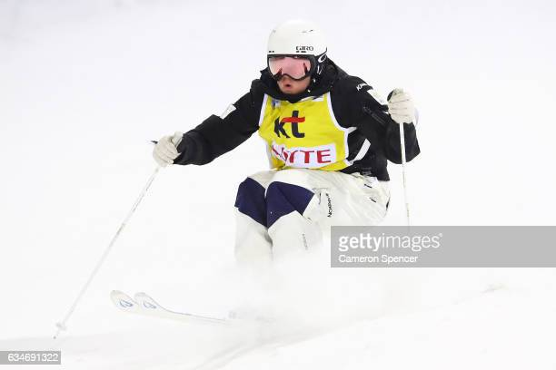 Britteny Cox of Australia competes in the FIS Freestyle Ski World Cup 2016/17 Womens Moguls Final at Bokwang Snow Park on February 11 2017 in...