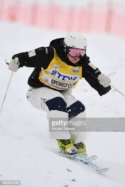 Britteny Cox of Australia competes in the ladies dual moguls during 2017 FIS Freestyle Ski World Cup Tazawako In Akita supported by TDK at Tazawako...