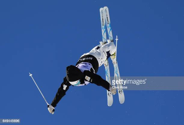 Britteny Cox of Australia competes in the Women's Moguls qualification on day one of the FIS Freestyle Ski Snowboard World Championships 2017 on...