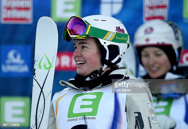 Britteny Cox of Australia smiles during the Women's Moguls Final of the FIS Freestyle Ski and Snowboard World Championship 2015 on January 18 2015 in...