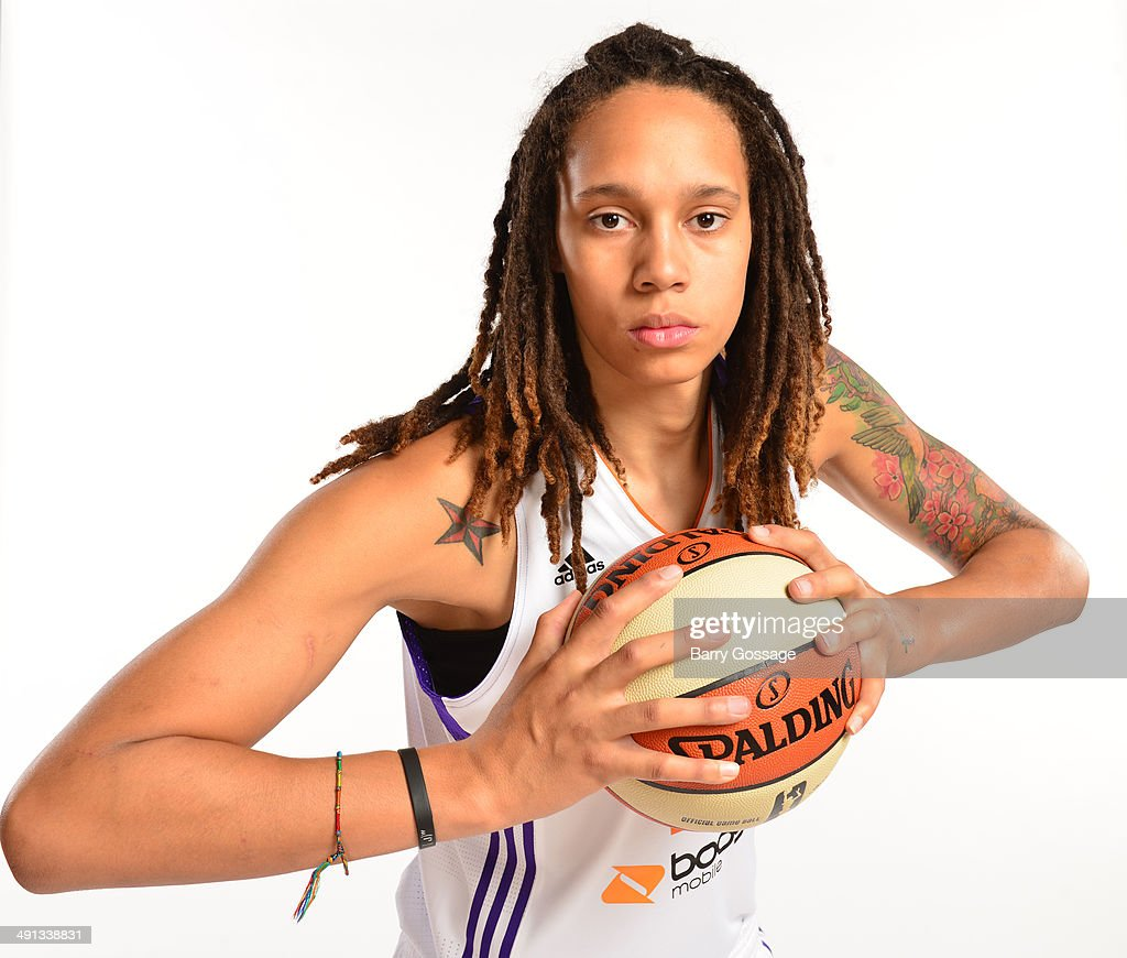 Brittney Griner #42 of the Phoenix Mercury poses for a photo during the Phoenix Mercury Media Day on May 13, 2014 at US Airways Center in Phoenix, Arizona.