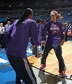 Brittney Griner of the Phoenix Mercury runs out before Game One of the WNBA Western Conference Finals against the Minnesota Lynx on September 24 2015...