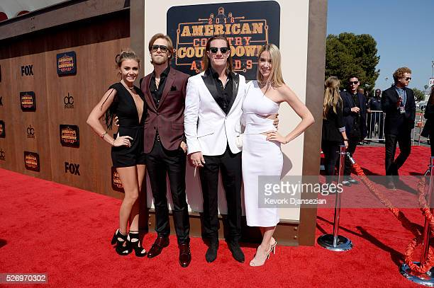 Brittney Marie Cole musicians Brian Kelley Tyler Hubbard of Florida Georgia Line and Hayley Stommel attend the 2016 American Country Countdown Awards...