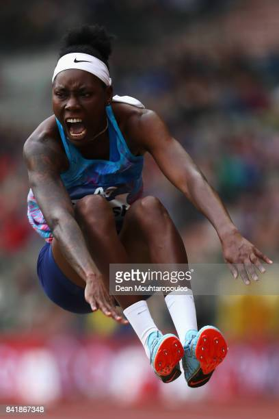 Brittney Reese of the USA competes in the Womens Long Jump Final during the AG Memorial Van Damme Brussels as part of the IAAF Diamond League 2017 at...