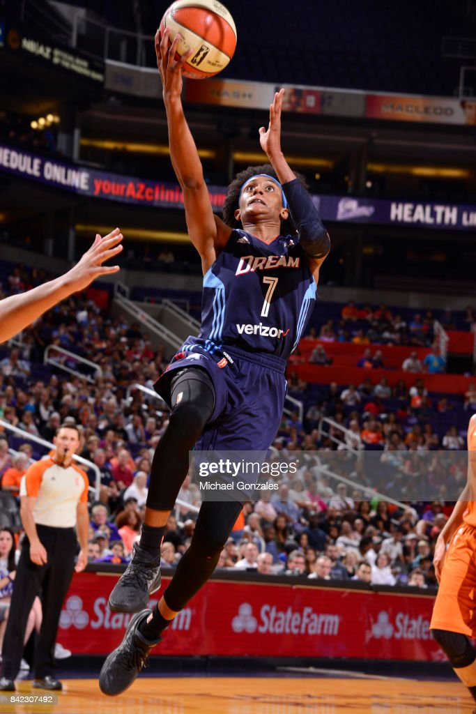 Brittney Sykes #7 of the Atlanta Dream shoots the ball against the Phoenix Mercury on September 3, 2017 at Talking Stick Resort Arena in Phoenix, Arizona.