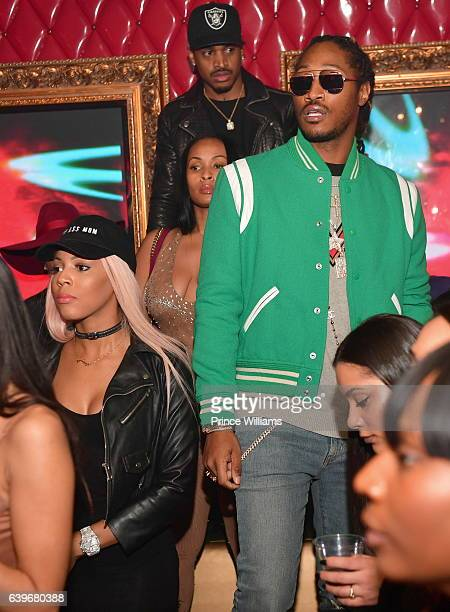 Brittni Mealy and Future attend a Party at compound Nightclub on January 22 2017 in Atlanta Georgia