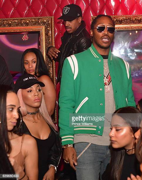 Brittni Mealy Tiffany Foxx and Future attend a Party at compound Nightclub on January 22 2017 in Atlanta Georgia