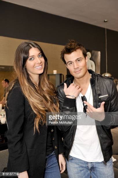 Brittny Gastineau and Gregory Michael attend Silver Spoon Presents Oscar Weekend Red Cross Event For Haiti Relief at Interior Illusions on March 3...