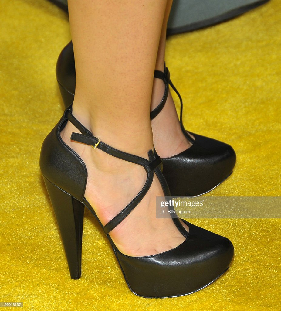 Brittny Gastineau attends (shoe detail) The Simpsons Treehouse Of Horror XX And 20th Anniversary Party on October 18, 2009 in Santa Monica, California.