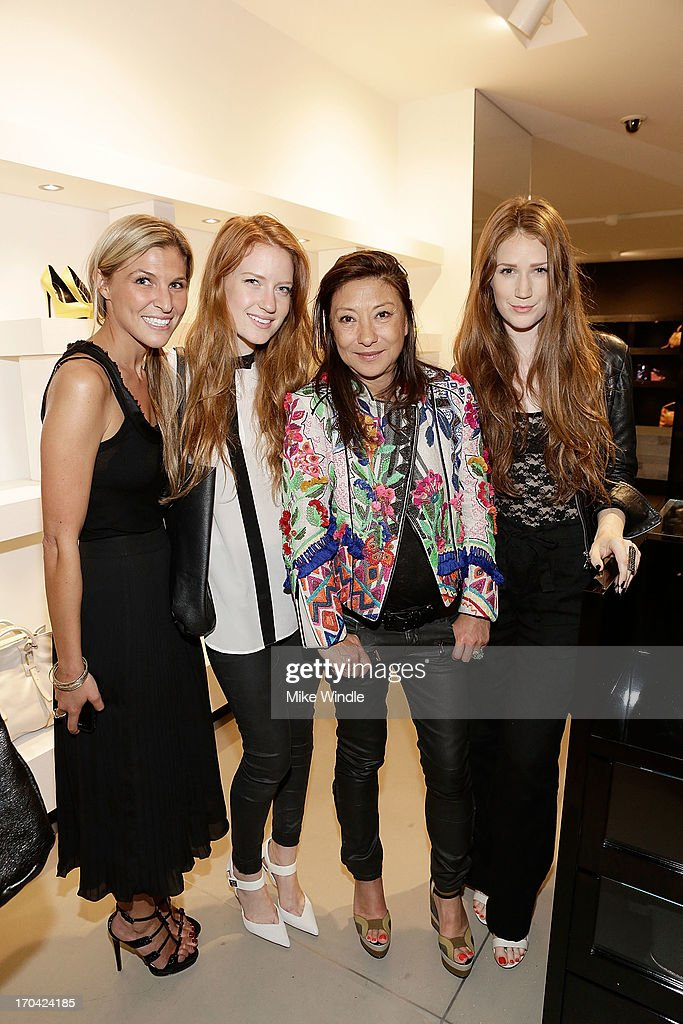 Britton Simons, Emma Rubenstein, Barbara Bui and Kaitlyn Rubenstein attend designer Barbara Bui celebrates first West Coast visit at her Rodeo Drive boutique on June 12, 2013 in Beverly Hills, California.