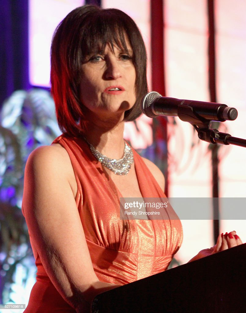 BritWeek Founder Sharon Peirce speaks onstage at BritWeek's 10th Anniversary VIP Reception & Gala at Fairmont Hotel on May 1, 2016 in Los Angeles, California.