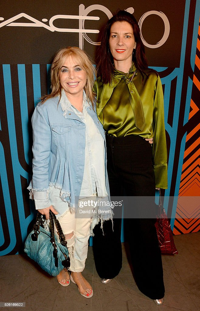 <a gi-track='captionPersonalityLinkClicked' href=/galleries/search?phrase=Brix+Smith&family=editorial&specificpeople=4271378 ng-click='$event.stopPropagation()'>Brix Smith</a> and Melanie Rickey attend the MAC Pro to Pro Textile Party at London's Camden Roundhouse on April 29, 2016 in London, England.