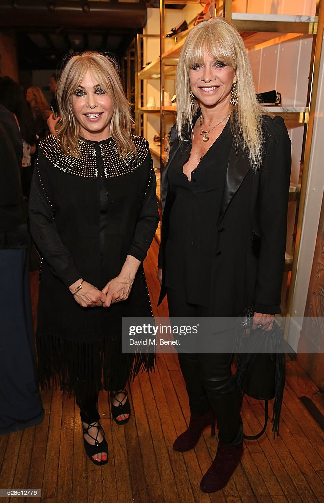 Brix Smith Start and Jo Wood attend the Brix Smith Start Autobiography Launch at Liberty London on May 5 2016 in London England