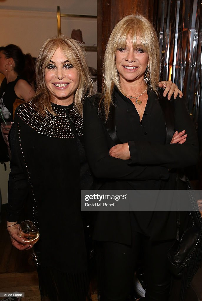 Brix Smith Start and Jo Wood attend the Brix Smith Start Autobiography Launch at Liberty London on May 5, 2016 in London, England.