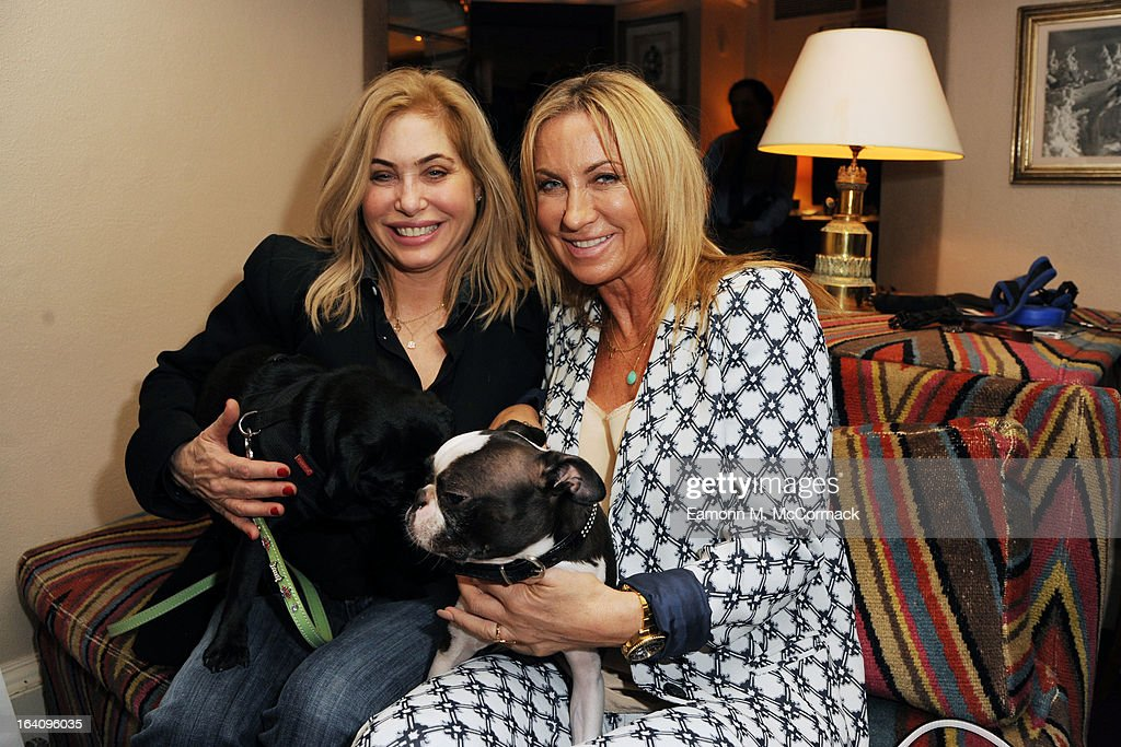 Brix Smith Start and Meg Matthews join VIP (very important pooches)of the furry variety took to Mayfair members' club George on Tuesday 19th March in aid of Dogs Trust to launch a dog friendly menu. Yasmin Le Bon, Patrick Cox and Tuuli Shipster and their four-legged friends joined members to celebrate the new dishes in aid of the UK's largest dog welfare charity, Dogs Trust at The George Club on March 19, 2013 in London, England.