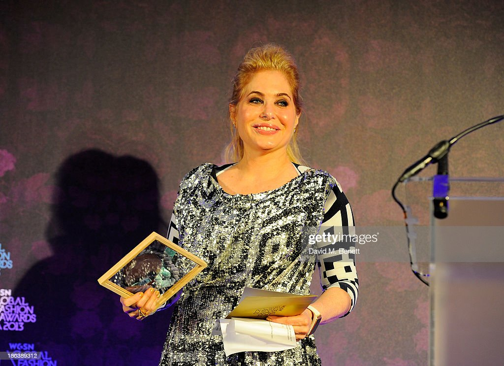 Brix Smith Start presents the Sports/Activewear Design Team award onstage at The WGSN Global Fashion Awards at the Victoria & Albert Museum on October 30, 2013 in London, England.