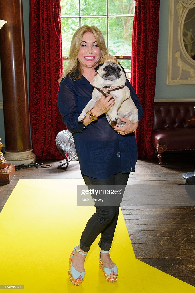 Brix Smith-Start and Pixie attend the Dogs Trust Honours 2013 at Home House on July 23, 2013 in London, England.